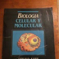 Libros de segunda mano: BIOLOGÍA CELULAR Y MOLECULAR. Lote 169238892
