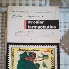 Libros de segunda mano: BUTLLETÍ INFORMATIU DE CIRCULAR FARMACÈUTICA - Nº 92 JULIOL 1977 - BARCELONA. Lote 169677148