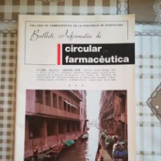 Libros de segunda mano: BUTLLETÍ INFORMATIU DE CIRCULAR FARMACÈUTICA - Nº 104 JULIOL 1978 - BARCELONA. Lote 169677224