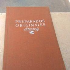 Libros de segunda mano: LIBRO FARMACIA - PREPARADOS ORIGINALES SCHERING -. Lote 170192901