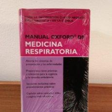 Libros de segunda mano: MANUAL OXFORD DE MEDICINA RESPIRATORIA. STEPHEN CHAPMAN Y OTROS. ISBN 97878854110.. Lote 190052286