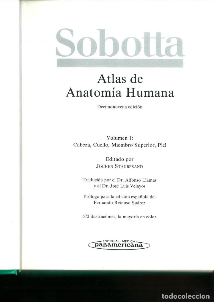 Libros de segunda mano: ATLAS DE ANATOMÍA HUMANA SOBOTTA. Jochen Staubesand - Foto 4 - 171522769