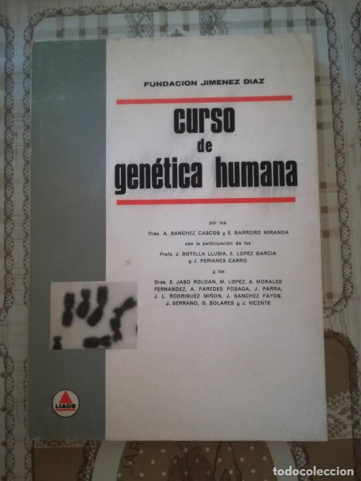 CURSO DE GENÉTICA HUMANA - FUNDACIÓN JIMÉNEZ DÍAZ - 1967 (Libros de Segunda Mano - Ciencias, Manuales y Oficios - Medicina, Farmacia y Salud)