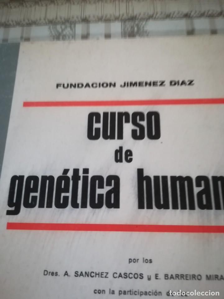 Libros de segunda mano: Curso de genética humana - Fundación Jiménez Díaz - 1967 - Foto 2 - 171946775