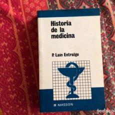 Libros de segunda mano: HISTORIA DE LA MEDICINA. PEDRO LAÍN ENTRALGO. MASSON. Lote 171969415