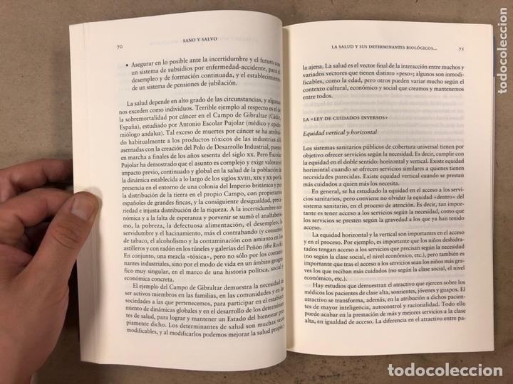 Libros de segunda mano: SANO Y SALVO (Y LIBRE DE INTERVENCIONES MÉDICAS INNECESARIAS). JUAN GÉRVAS Y MERCEDES PÉREZ FERNÁNDE - Foto 4 - 194879388