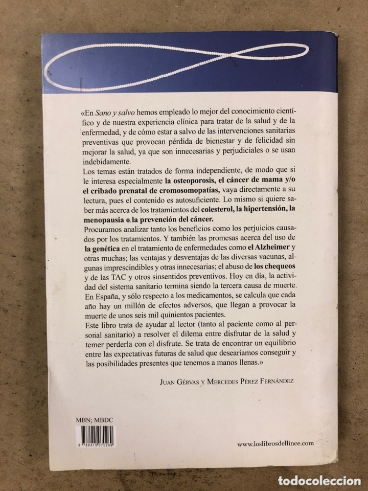 Libros de segunda mano: SANO Y SALVO (Y LIBRE DE INTERVENCIONES MÉDICAS INNECESARIAS). JUAN GÉRVAS Y MERCEDES PÉREZ FERNÁNDE - Foto 6 - 194879388