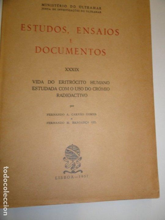 VIDA DO ERITROCITO HUMANO - CARVAO GOMES 1957 (Libros de Segunda Mano - Ciencias, Manuales y Oficios - Medicina, Farmacia y Salud)
