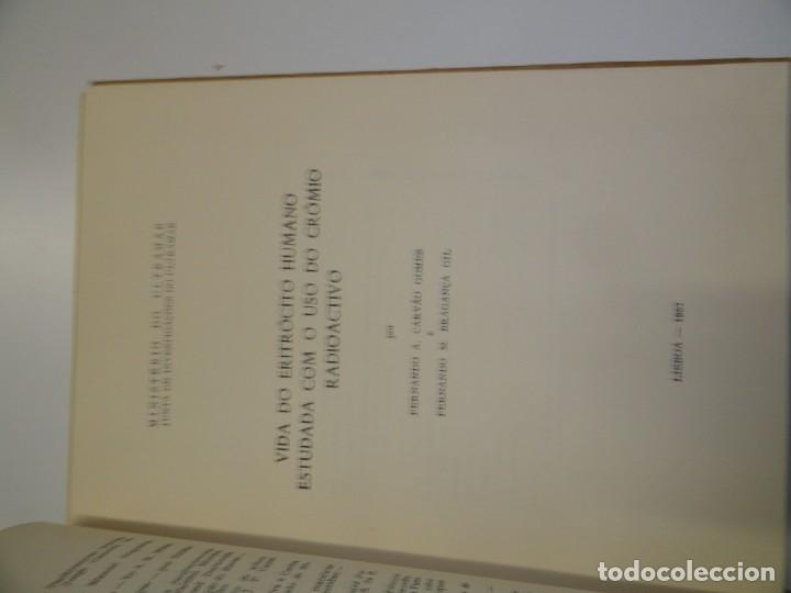 Libros de segunda mano: Vida do eritrocito humano - Carvao Gomes 1957 - Foto 3 - 173059762