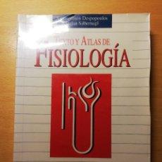Libros de segunda mano: TEXTO Y ATLAS DE FISIOLOGÍA (AGAMEMNON DESPOPOULOS / STEFAN SILBERNAGL). Lote 173681324