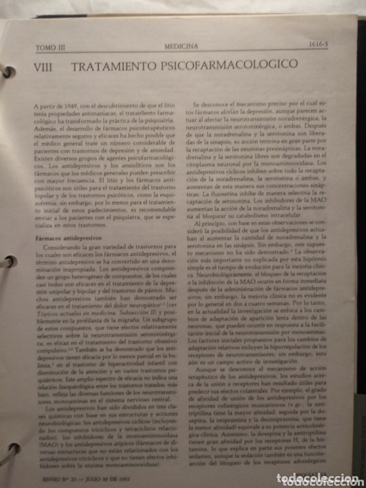 Libros de segunda mano: Libro SCIENTIFIC AMERICAN MEDICINA VOLUMEN 3 . ENDOCRINO, METABOLISMO,NEUROLOGIA,PSIQUIATRIA... - Foto 9 - 173813402