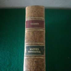 Libros de segunda mano: ANATOMIA TOPOGRAFICA DR-F.VILLEMIN. Lote 174593392