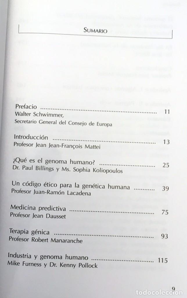 Libros de segunda mano: EL GENOMA HUMANO - LA MIRADA DE LA CIENCIA, EDITORIAL COMPLUTENSE - GENÓMICA, BIOLOGÍA, MEDICINA - Foto 8 - 176218245