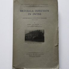 Libros de segunda mano: BRUCELLA INFECTION IN SWINE STUDIES FROM AN EPIZOOTIC IN DENMARK 1929-1932 AXEL THOMSEN 1934 ANTIGUO. Lote 176337425