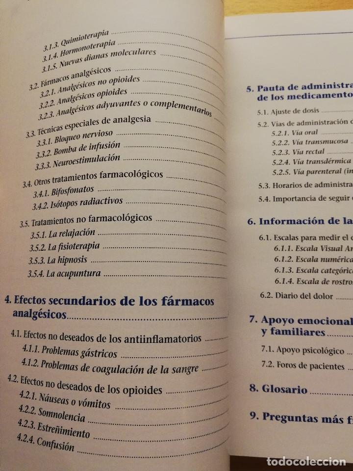 Libros de segunda mano: EL DOLOR EN EL PACIENTE ONCOLÓGICO. GUÍA PARA PACIENTES Y FAMILIARES - Foto 4 - 176648538