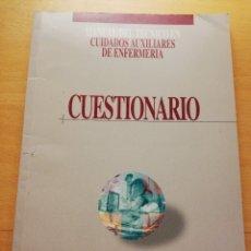 Libros de segunda mano: MANUAL DEL TÉCNICO EN CUIDADOS AUXILIARES DE ENFERMERÍA. CUESTIONARIO (JOSÉ ÁNGEL PEÑA BAYO). Lote 176657787