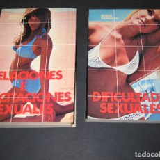 Libros de segunda mano: LOTE DE 2 LIBROS - RELACIONES E INCITACIONES SEXUALES (1974) - DIFICULTADES SEXUALES (1975) . Lote 176851495