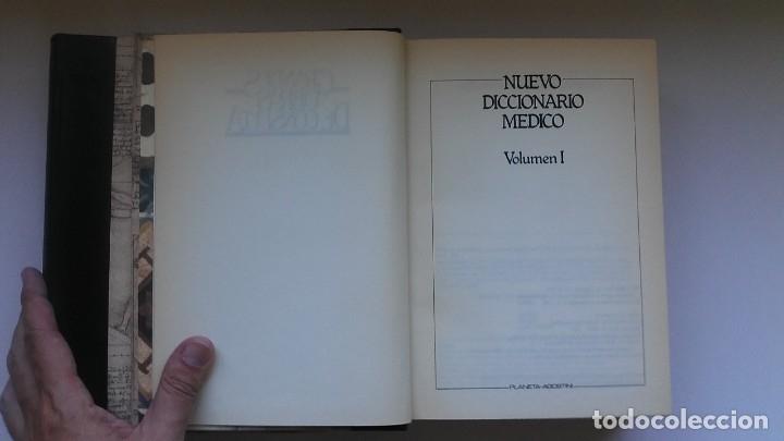 Libros de segunda mano: Nuevo diccionario médico (1987). Planeta Agostini. Medicina. Encuadernación artesanal. - Foto 8 - 176858507