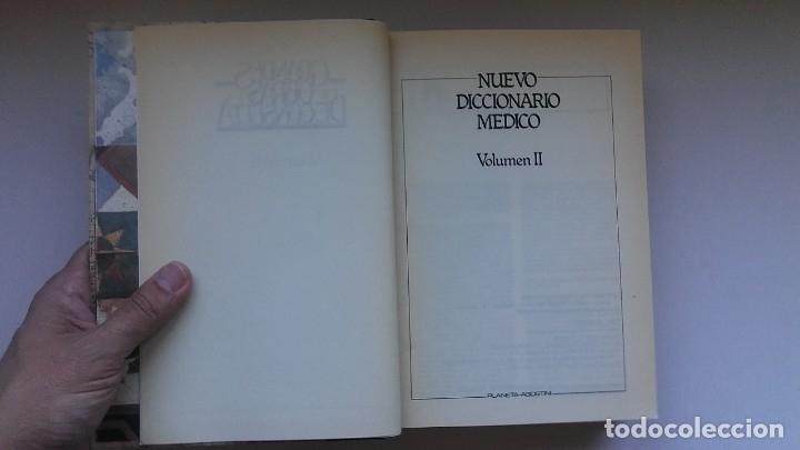 Libros de segunda mano: Nuevo diccionario médico (1987). Planeta Agostini. Medicina. Encuadernación artesanal. - Foto 12 - 176858507