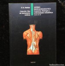 Libros de segunda mano: NETTER - SISTEMA MUSCULOSQUELETICO - 8.1 B - ANATOMÍA FISIOLOGÍA Y ENFERMEDADES METABÓLICAS. Lote 178283893