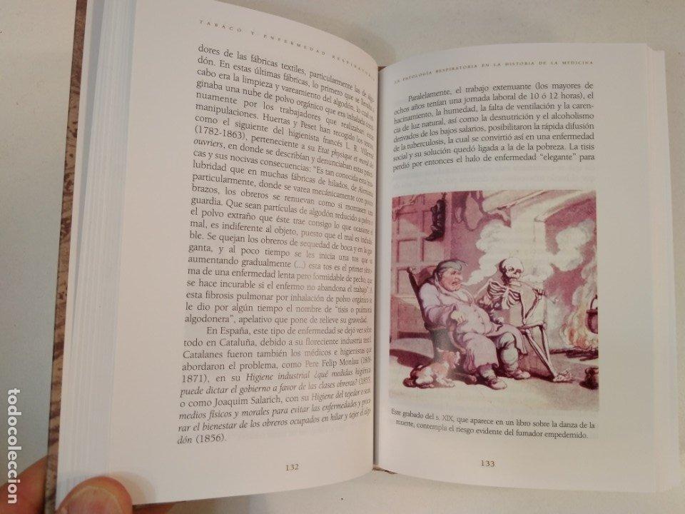 Libros de segunda mano: TABACO Y ENFERMEDAD RESPIRATORIA. Estudio histórico, relatos y ... VV.AA. ISBN 8488865813. - Foto 4 - 178360176