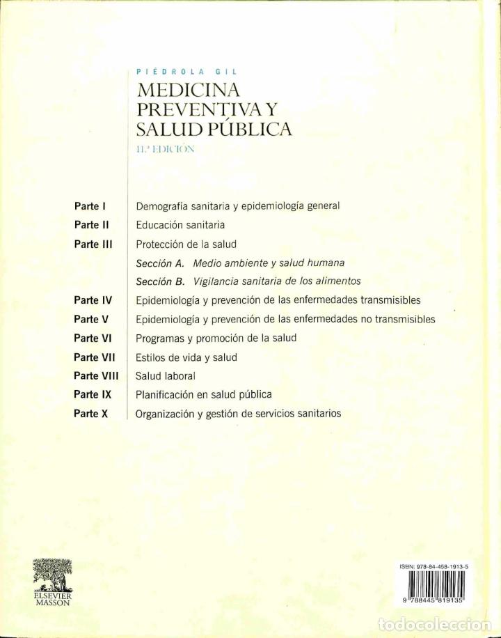 Libros de segunda mano: Piédrola Gil. Medicina Preventiva Y Salud Pública 11ª. Edición (Nuevo) - Gonzalo Piedrola Gil - Else - Foto 2 - 178696125