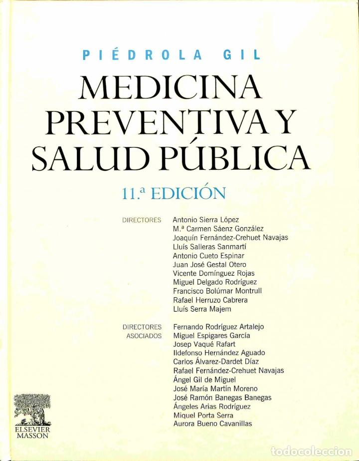 PIÉDROLA GIL. MEDICINA PREVENTIVA Y SALUD PÚBLICA 11ª. EDICIÓN (NUEVO) - GONZALO PIEDROLA GIL - ELSE (Libros de Segunda Mano - Ciencias, Manuales y Oficios - Medicina, Farmacia y Salud)