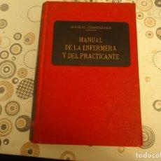Libros de segunda mano: MANUAL DE LA ENFERMERA Y DEL PRACTICANTE. Lote 178775325