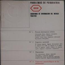 Libros de segunda mano: CUADERNO MÉDICO-PRACTICO PROBLEMAS DE PSIQUIATRÍA 1972. Lote 179143556
