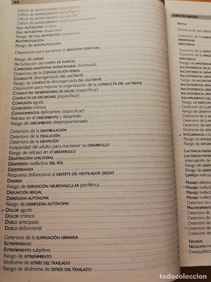 Libros de segunda mano: LOS DIAGNÓSTICOS ENFERMEROS. REVISIÓN CRÍTICA Y GUÍA PRÁCTICA (MARÍA TERESA LUIS RODRIGO) 2ª EDICIÓN - Foto 4 - 180174246