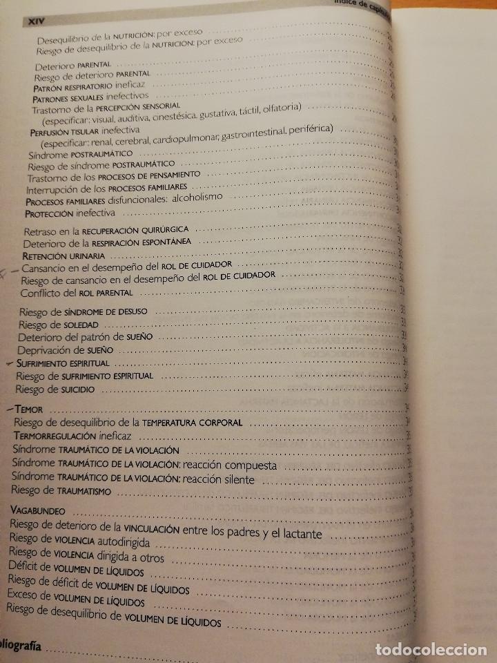 Libros de segunda mano: LOS DIAGNÓSTICOS ENFERMEROS. REVISIÓN CRÍTICA Y GUÍA PRÁCTICA (MARÍA TERESA LUIS RODRIGO) 2ª EDICIÓN - Foto 6 - 180174246