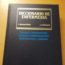 Libros de segunda mano: DICCIONARIO DE ENFERMERÍA (JACQUES QUEVAUVILLIERS / LÉON PERLEMUTER) TOMO II. Lote 180175503