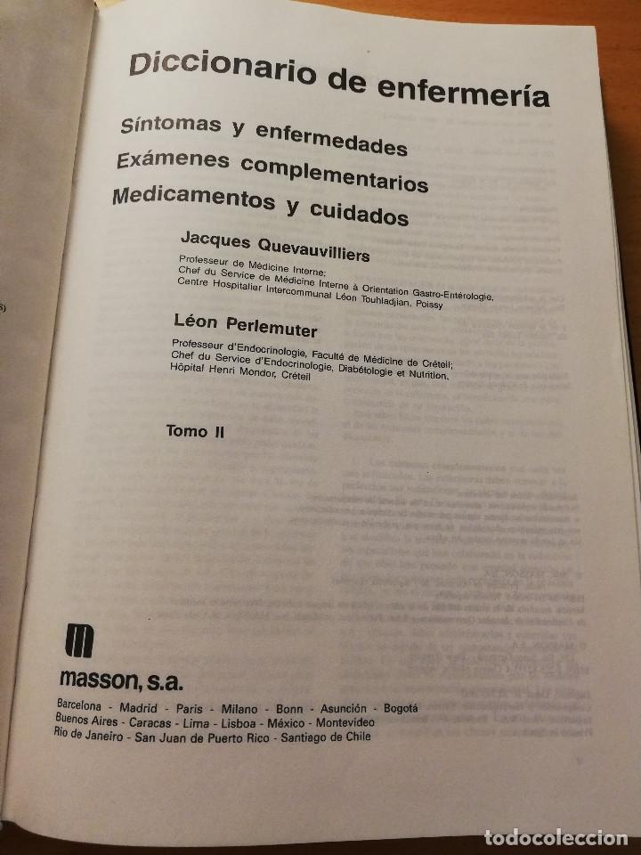 Libros de segunda mano: DICCIONARIO DE ENFERMERÍA (JACQUES QUEVAUVILLIERS / LÉON PERLEMUTER) TOMO II - Foto 2 - 180175503