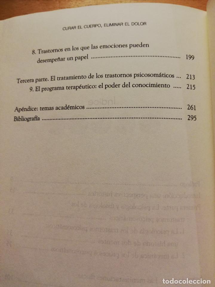 Libros de segunda mano: CURAR EL CUERPO, ELIMINAR EL DOLOR. (DR. JOHN E. SARNO) EDITORIAL SIRIO - Foto 4 - 180231877