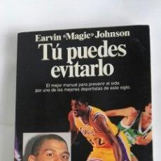 Libros de segunda mano: TU PUEDES EVITARLO MAGIC JOHNSON SIDA. Lote 180278597