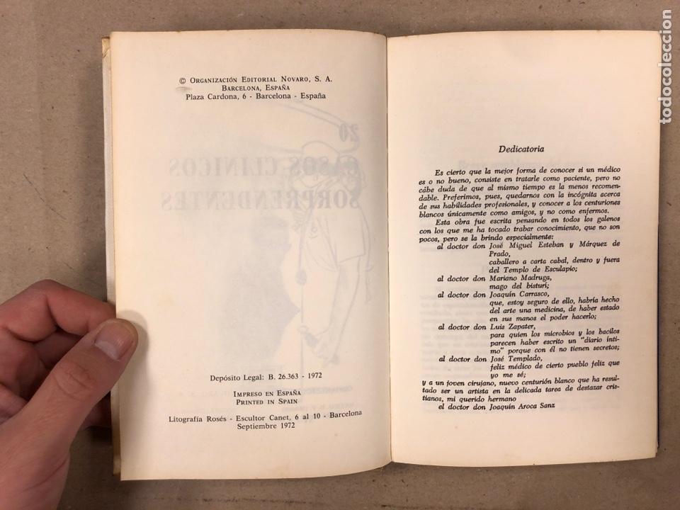 Libros de segunda mano: 20 CASOS CLÍNICOS SORPRENDENTES. EDITORIAL NOVARO 1972. 219 PÁGINAS. TAPA DURA. - Foto 3 - 180329031