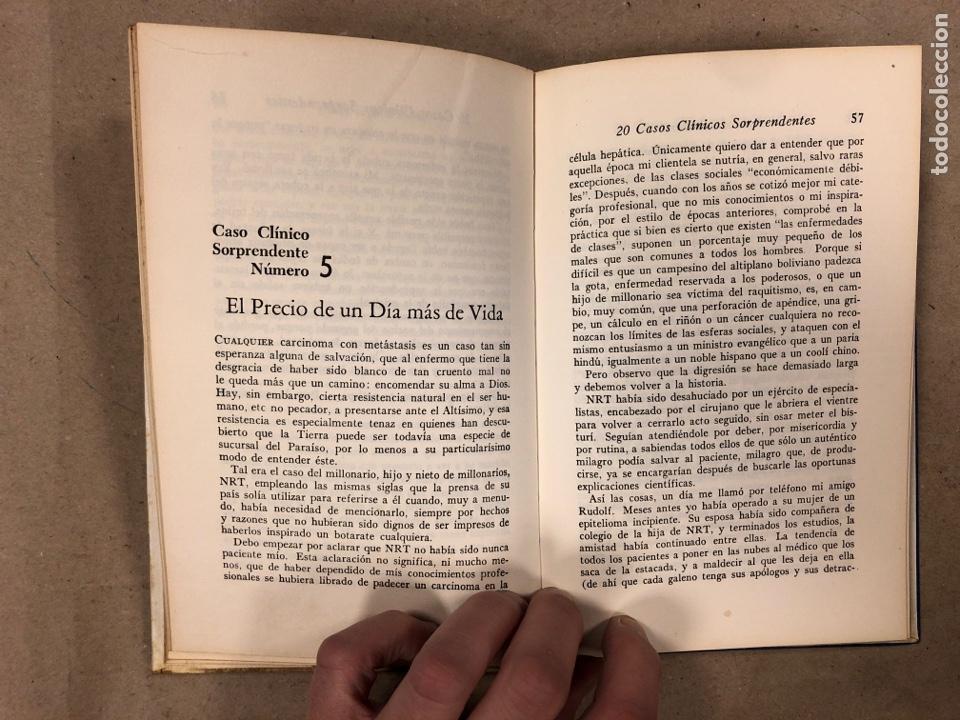 Libros de segunda mano: 20 CASOS CLÍNICOS SORPRENDENTES. EDITORIAL NOVARO 1972. 219 PÁGINAS. TAPA DURA. - Foto 4 - 180329031