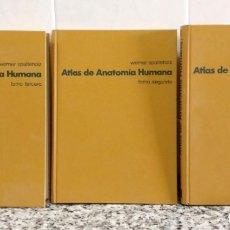 Libros de segunda mano: ATLAS DE ANATOMÍA HUMANA.3 TOMOS. WERNER SPALTEHOLZ.EDITORIAL LABOR 1972. Lote 180837906