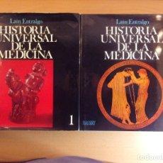 Libros de segunda mano: HISTORIA UNIVERSAL DE LA MEDICINA / LAÍN ENTRALGO / TOMOS 1 Y 2 / SALVAT. Lote 180870061