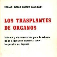 Libros de segunda mano: LOS TRASPLANTES DE ÓRGANOS. Lote 180875112