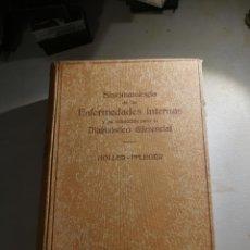 Libros de segunda mano: SINTOMATOLOGÍA DE LAS ENFERMEDADES INTERNAS Y SU VALORACIÓN AÑO 1941. Lote 180901182