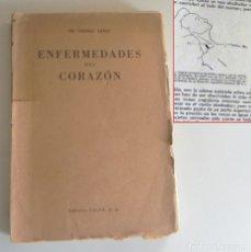 Libros de segunda mano: ENFERMEDADES DEL CORAZÓN LIBRO ANTIGUO - THOMAS LEWIS ED REVISADA ACTUALIZADA - MEDICINA CARDIOLOGÍA. Lote 181164742