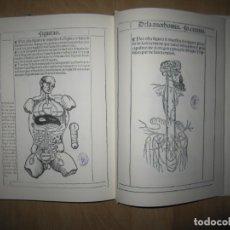 Libros de segunda mano: LIBRO DE LA ANOTHOMIA DEL HOBRE (LIBRO DE ANATOMÍA). BERNARDINO MONTAÑA DE MONSERRATE. FACSÍMIL. Lote 181317938