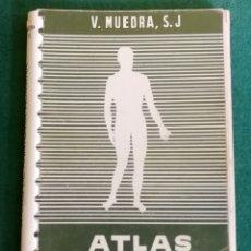 Libros de segunda mano: COLECCIÓN ATLAS DE ANATOMÍA HUMANA - MUEDRA - EDITORIAL JOVER 1965. Lote 182308155
