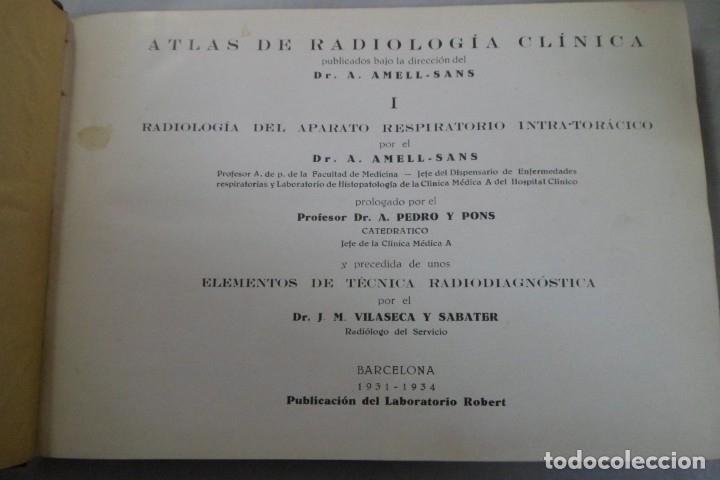 ATLAS DE RADIOLOGÍA CLÍNICA. DR. A. AMELL-SANS I APARATO DEL APARATO RESPIRATORIO INTRA-TORÁCICO (Libros de Segunda Mano - Ciencias, Manuales y Oficios - Medicina, Farmacia y Salud)