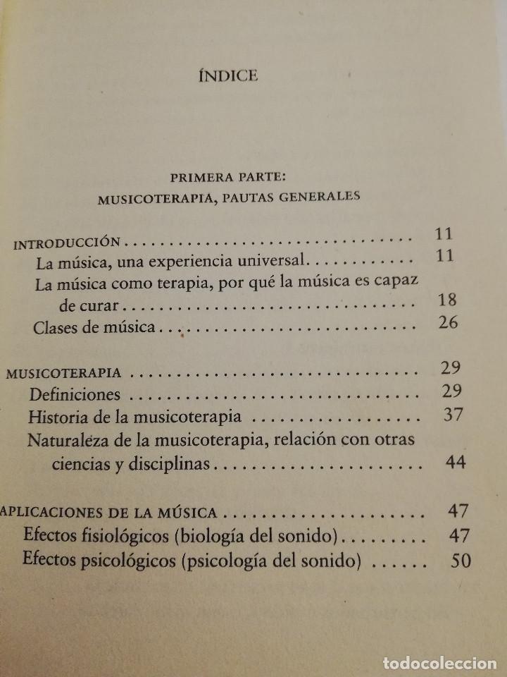 Libros de segunda mano: CÓMO CURA LA MUSICOTERAPIA. CÓMO ARMONIZAR CUERPO Y MENTE A TRAVÉS DE LA MÚSICA (SÁINZ DE LA MAZA) - Foto 3 - 183857581