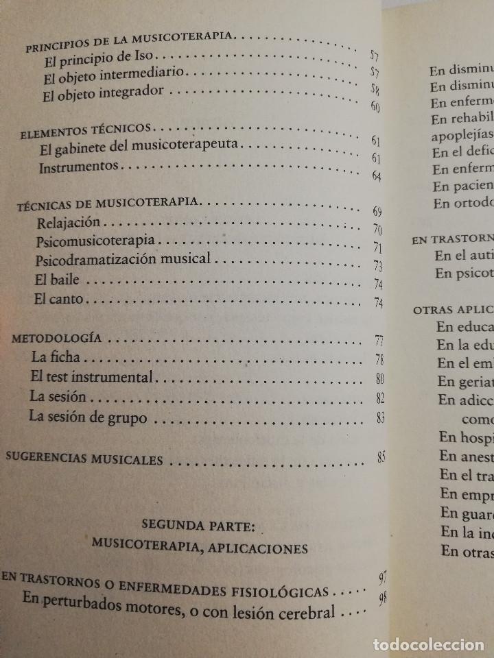 Libros de segunda mano: CÓMO CURA LA MUSICOTERAPIA. CÓMO ARMONIZAR CUERPO Y MENTE A TRAVÉS DE LA MÚSICA (SÁINZ DE LA MAZA) - Foto 4 - 183857581