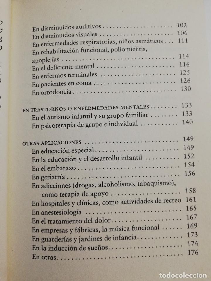 Libros de segunda mano: CÓMO CURA LA MUSICOTERAPIA. CÓMO ARMONIZAR CUERPO Y MENTE A TRAVÉS DE LA MÚSICA (SÁINZ DE LA MAZA) - Foto 5 - 183857581