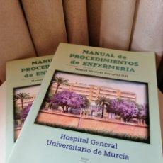 Libros de segunda mano: MANUAL PROCEDIMIENTOS ENFERMERÍA. 2 TOMOS.. Lote 184335761