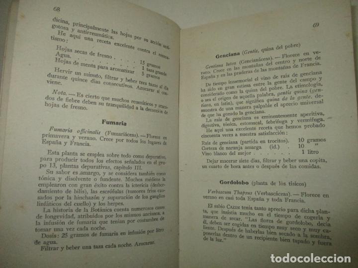 Libros de segunda mano: EL MÉDICO DEL HOGAR. TRATADO POPULAR DE PLANTAS MEDICINALES. 5000 recetas inofensivas e infalibles. - Foto 2 - 123167196